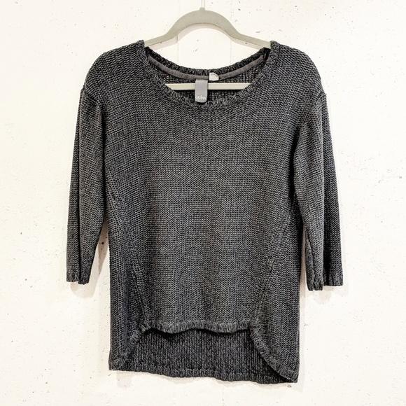 0c10f837d314 SALE ❗3 4 sleeve hi low gray sweater M. M 5b9c6fa61b3294513d7a5923
